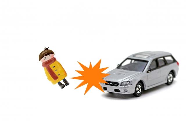 車との接触事故のイメージ