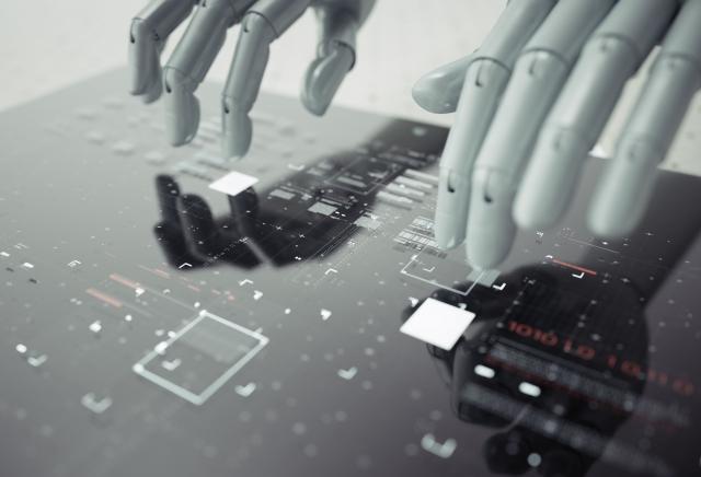 AIロボットの手