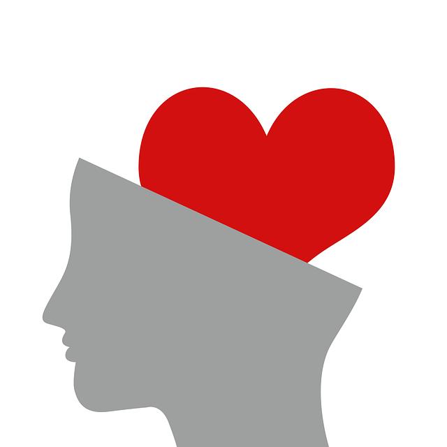 脳にハートマーク