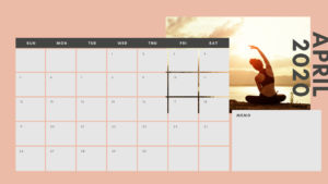 習慣化カレンダー4月